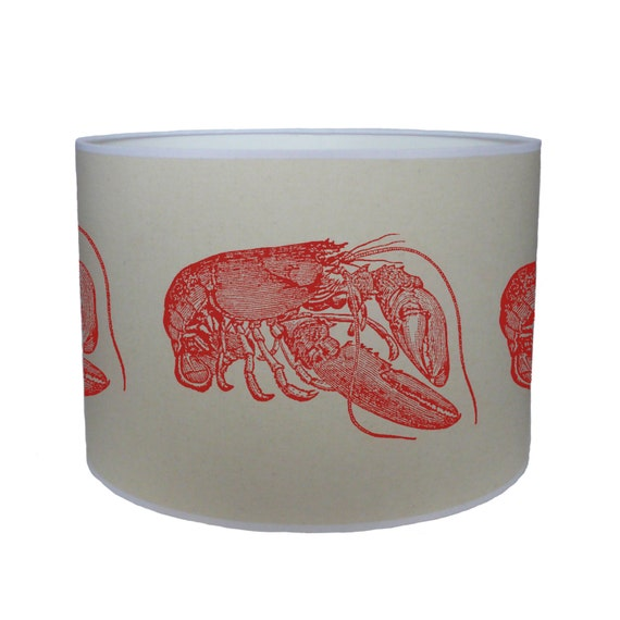 red lobster shade lamp shade ceiling shade drum lampshade lighting. Black Bedroom Furniture Sets. Home Design Ideas