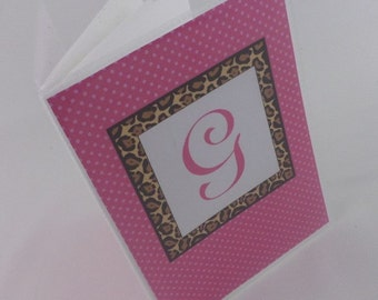 Monogram Photo Album Wedding Personalized Bridal shower gift Monogrammed 4x6 or 5x7 picture Album Hot Pink Leopard 388