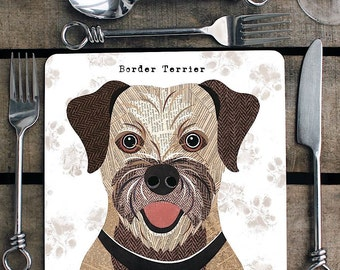 Border Terrier personalised placemat/coaster