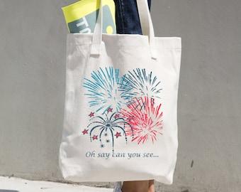 4th of July Fireworks Patriotic Bag