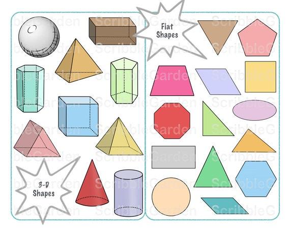 geometrische formen clipart von scribblegarden auf etsy. Black Bedroom Furniture Sets. Home Design Ideas
