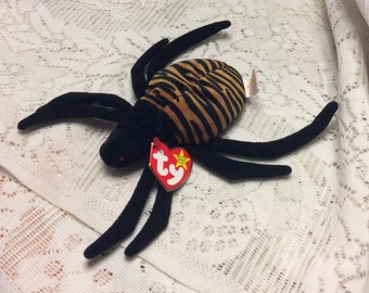 Vintage Ty Beanie baby Spinner the spider. Free ship to US