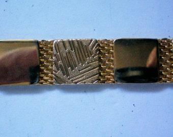 Gold tone Metal Mesh Choker Necklace 3977