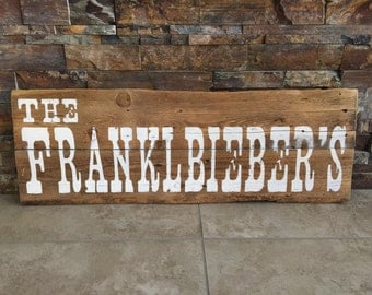 Custom Rustic/Western Family Name Sign