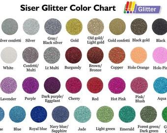 Glitter HTV Siser HEAT TRANSFER vinyl sheet 12x10 or 12x20 inch sheets