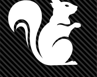 SQUIRREL Decal Sticker Car Decal Laptop Decal - Choice of Colors