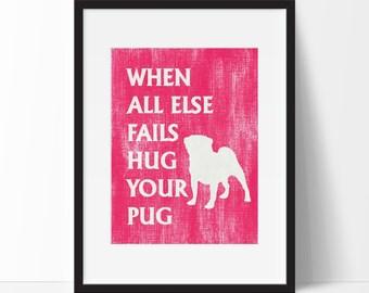 Pug Art Print, Modern Wall Art, Dog Breed, Pet Lover Gift, Dog Wall Art
