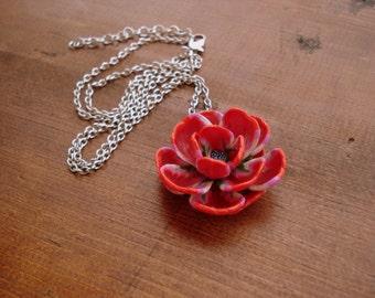 Polymer Clay Jewelry Flower Pendant Handmade
