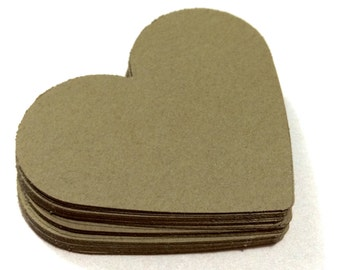 Coffee Brown Heart Die Cuts Paper Hearts Cutout Cardstock Hearts 1 2 3 4 5 6 7 8 inches 80gsm 160gsm
