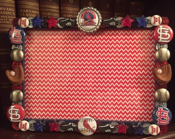 St. Louis cardinals button picture frame