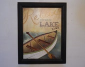 Lake Time ... * wall decor * wall hanging * lake picture * lakehouse decor * wood framed print * home decor * Made in USA