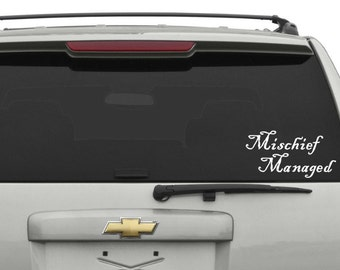 Mischief Managed (Harry Potter) Car Decal