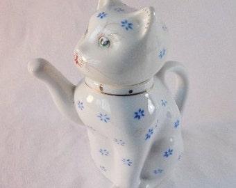Adorable Little White Kitten Creamer/Teapot