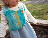 Boy and Girl Vest Sewing Pattern - Cross My Heart Vest in size baby toddler and child size to 5T - a PDF Sewing Pattern for Woven Fabric