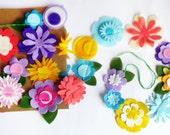 Felt Flower Garland, Party Supply, DIY Wedding, Party decor