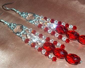 Swarovski  Earrings Crystal Earrings Stacked Earrings Dangle Earrings Drop Earrings Chandelier Earrings Beaded Earrings Multicolor