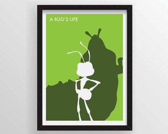 A Bug's Life Minimalist Poster - A3 and 13 x 19 Available