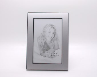 personalized 4x6 picture frame engraved photo frame silver picture frame with engraving - Engraved Frame