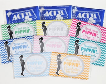 Popcorn Wrapper - Ready to POP Thank you favors - Microwave popcorn bag covers