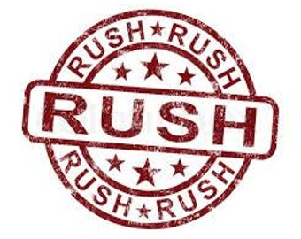 """RUSH PROCESSING w/ priority mail shipping for any item under 26"""""""