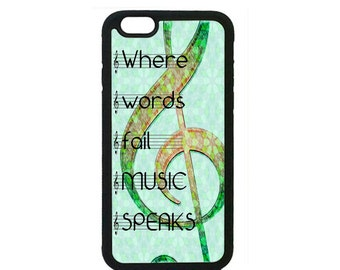 New Music Clef Treble Pattern Black Case Cover for iPhone 4s 5 5s 5c 6 6s 6Plus Black  iPod Touch case