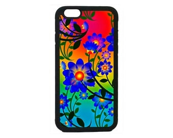 Floral Summer Flowers Black Case Cover for iPhone 4 4s 5 5s  5C 6 6s 6 Plus 7 7 Plus iPod Touch 4 5 6 case Cover
