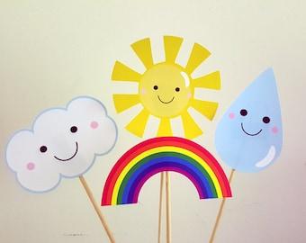 Rainbow Centerpieces, Rainbow Party Centerpiece, Rainbow Birthday Centerpiece, Rainbow Baby Shower, Rainbow Photo Props