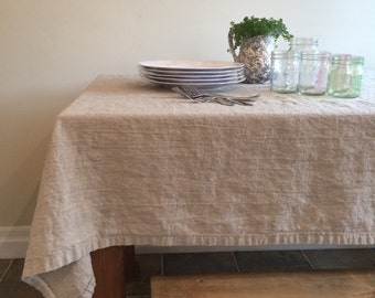 Linen Tablecloth - Heavy - Rustic - Chic - Natural - Misses Country