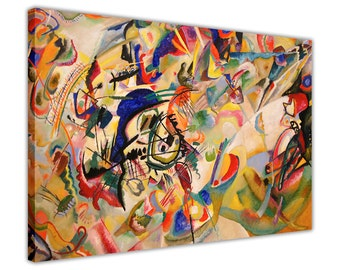 Famous Composition 7 by Wassily Kandinsky on Framed Canvas Prints Wall Art Pictures Home Decoration Room Deco Present