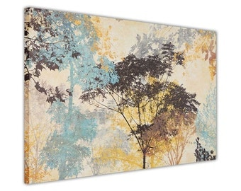 Colourful Forest Framed Canvas Painting Re-Print Pictures Wall Art Prints Homes Decoration Contemporary Art Gift Present