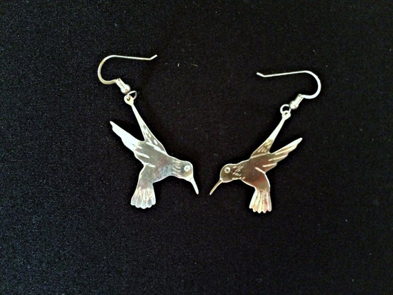 Hummingbird earrings hummingbird jewelry sterling silver for Vancouver island jewelry designers