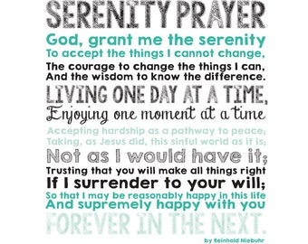 Serenity Prayer Canvas CUSTOM