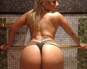 Keeps Her bikini bottoms