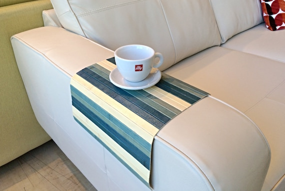 HIS Stylish couch tray from natural bamboo. Flexible sofa trays. Wooden coffee placemat trays. Living room decor gifts ideas for him and her