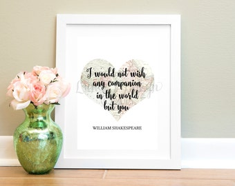 Shakespeare Love Quote Print