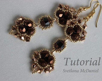 PDF tutorial beaded earrings_charmed_heatrs_ beading_seed beads