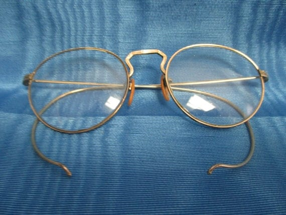 Antique circa 1920 s 12 kt gold filled frames spectacles w ornately