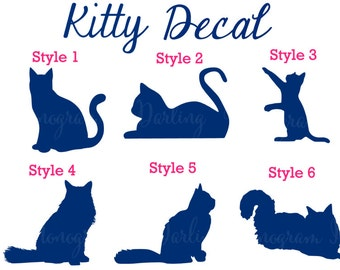 Cat Decal - Personalization Available!