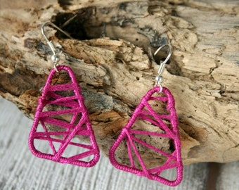Leightweight earrings pink cotton, sommerly