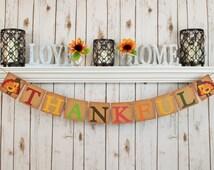 FALL BANNER GARLAND-Thanksgiving Banner-Thanksgiving Garland-Turkey-Fall Decor-Fall-Thanksgiving Photo Prop-Thanksgiving Decor-Party
