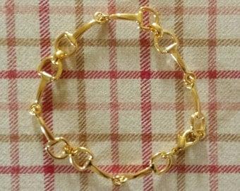 SALE!Gold horse bit bracelet-petite small bit beautiful handcrafted bit bracelet-horse gift-equestrian bracelet-horse bit bracelet,horse bit
