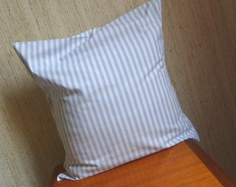 Blue Striped Cushion *CUTE* upcycled from vintage fabrics *NAUTICAL*