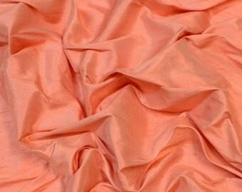 "Salmon Pink Dupioni Silk, 100% Silk Fabric, 54"" Wide, By The Yard (S-268)"