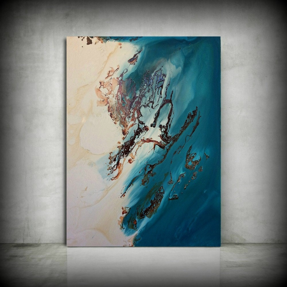 Beach Painting 30 X 40 Abstract Painting Acrylic Painting