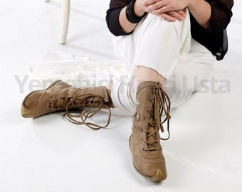 Turkish Yemeni Organic Hand Made Genuine Leather Boot. Number feet from 34 to 47