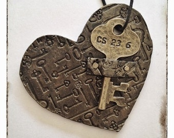 Heart with a key