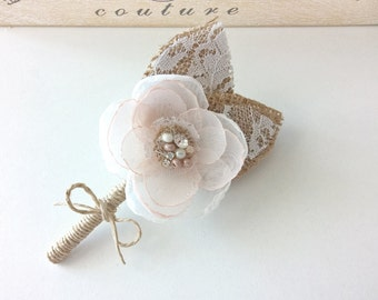 Rustic Boutonnieres for Wedding
