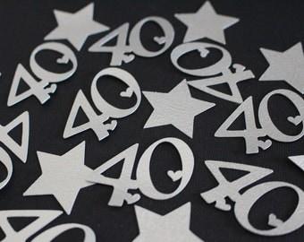 Confetti - 40th Birthday Decoration - Number/Anniversary Confetti, Party Confetti, Party Decoration #2028