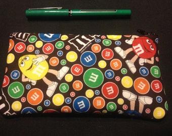 M&Ms Pencil Case / Zipper Pouch #157