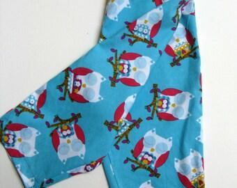 Owl pajama pants, Owl Lounge pants, Size 12-18 months.